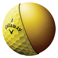 Callaway HEX Warbird Yellow Golf Balls